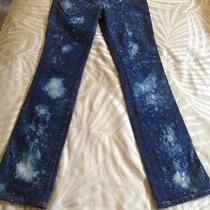 Unique Rare Christian Dior Indigo Blue Heart Pocket Denim Jeans Size 38 Us 6 Photo