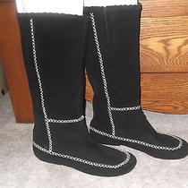 Unique Rare Jeffrey Campbell Suede Leather Black Boots Moccasin Kate Sz 9 Photo
