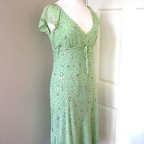 Unique Rare Moschino Bridget Jones Movie Lime Silk Lace Bubble Dress Uk14 Us12 Photo
