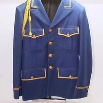Unique Rare Vintage Band Uniform Blue & Yellow Lyre Buttons Makers Tag  Burton Photo