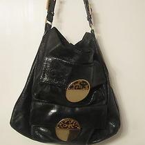 Unique Tory Burch Black Leather Shoulder Bag Rare Purse Handbag Photo