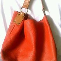 Unisa Orange Leather Brown Straps Trendy Hobo Handbag Medium Photo