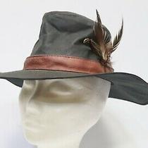 Unisex Barbour Waxed Cotton Bush Hat Navy Blue (D596) Size Small - 232  Photo