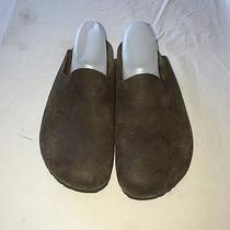 Unisex Birkenstock Brown Oiled Slip on Mules Shoes Size Men's 7 Women's 9 Comfy Photo