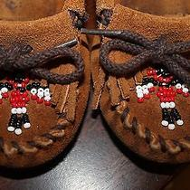 Unisex Children Moccasin Minnetonka Shoes Size 8 Photo