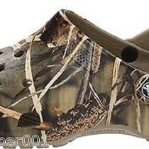 Unisex Clogs Shoes Crocs Men 4/ Women 6 Classic Realtree Max-4 Camo 12132 Mules Photo