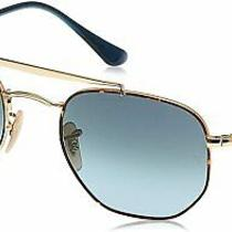 Unisex Ray-Ban Rb3648 the Marshal Sunglasses - Gold/blue Gradient Size 54mm Photo