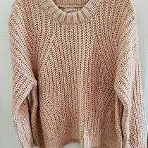 Universal Thread L Sweater Blush/pink Pullover Chunky Knit Oversized New W Tag Photo