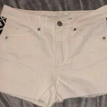 Universal Thread White High Rise Cut Off  Shorts Aztec Detail Size 2/26r Photo