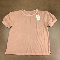Universal Thread Women's Size Medium Blush Short Puff Sleeve T-Shirt Nwt Photo