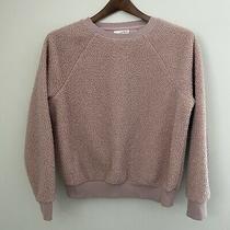 Universal Thread Womens Xs Blush Pink Teddy Bear Fuzzy Sweatshirt Pullover Photo