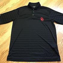 University of Oklahoma Ou Sooners White Black Coaches Polo - Size Small Photo