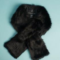 Unreal Fur Faux Fur Scarf Rachel Zoe Box of Style Black New Reg 85 Photo