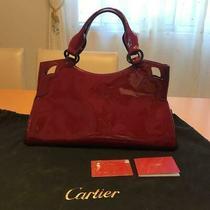 Unused Authentic Cartier Vintage Tote Bag New Bordeaux Leather Photo