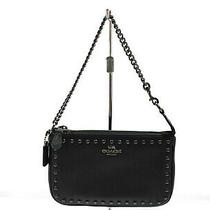 Unused Coach Nolita 66380 Bag Mini Pouch Compact Glove Leather Black Simp (342 Photo