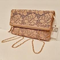 Urban Expressions Blush Rose Cutout Fold Over Clutch Handbag Photo