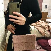 Urban Expressions Flap Plush Blush Mauve Clutch Chain Bag Pink Nwt Valentines Photo