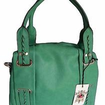 Urban Expressions Handbags Roxy Vegan Leather Bags Emerald Green Satchel Purse Photo
