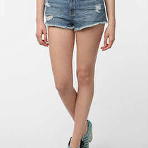 Urban Outfitters 21h/m Medium Wash High Waisted Shorts American Apparel Size 24 Photo