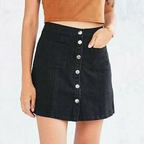 Urban Outfitters Bdg Black Denim Jean Skirt Size Small Photo