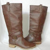 Urban Outfitters Bdg Women's Tall Faux Leather Pull on Boots Size 8 Photo