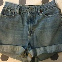 Urban Outfitters  Bdg Womens Mom High Rise Cuffed Jean Shorts Size 27w Photo