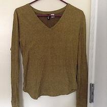 Urban Outfitters Bdg Yellow Green Long Sleeve v Neck Shirt Grunge Photo