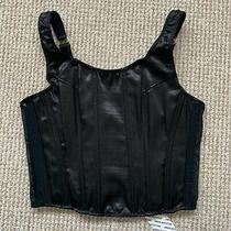 Urban Outfitters Black Margot Scoop Corset Top Size Small Bnwt Photo
