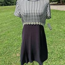 Urban Outfitters Black & White Empire Waist Dress W/daisies Sz Large Photo
