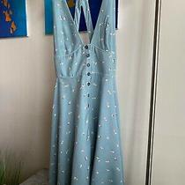 Urban Outfitters Blue Floral Mini Dress Size Xs Photo