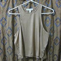 Urban Outfitters Brown Tan Southwestern Cowboy Micro Suede Side Tie Tank Top L Photo