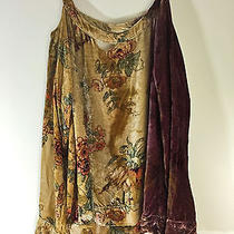Urban Outfitters Chaser Velvet Grunge Ombre Destroyed Floral Sweater M Photo
