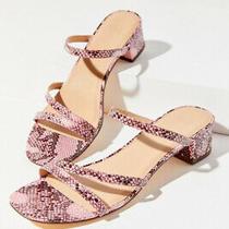 Urban Outfitters Claudia Pink Snakeskin Heels 1inch Block Heel No Flaws Sz 9 Photo