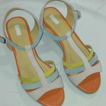 Urban Outfitters Cooperative Faux Suede Bright Colored Wedge Sandals Us Size 7 Photo