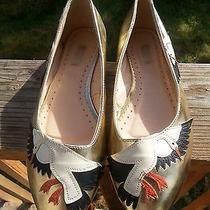 Urban Outfitters Cooperative Gold Swan Flats Size 9 Photo
