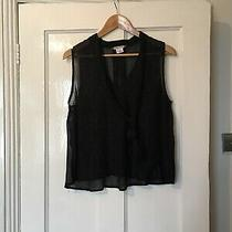 Urban Outfitters Cooperative Size M Medium Black Shimmer Sheer Top (J14) Photo