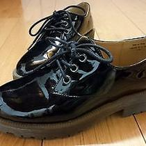 Urban Outfitters Cooperative Women's Black Patent Gum Sole Lace Up Shoes Size 6 Photo