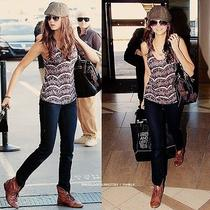 Urban Outfitters Deena & Ozzy Foldover Boot Aso Nina Dobrev in Black 7.5 Photo