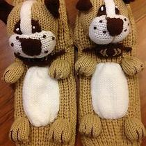 Urban Outfitters Dog Puppy Plush Socks Slipper Knitted Warm & Soft One Size New Photo