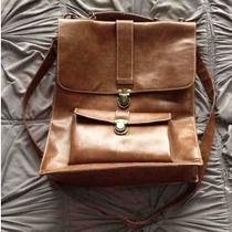 Urban Outfitters Ecote Briefcase Messenger Bag Cognac Photo
