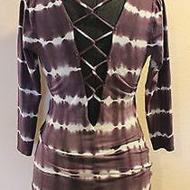 Urban Outfitters Ecote Women's Open Back Purple Tie Dye 3/4 Sleeve Dress Size M Photo
