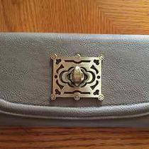 Urban Outfitters Faux Leather Grey Accordion Wallet W/ Twist Clasp Photo