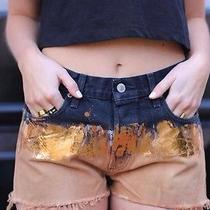 Urban Outfitters Festival Grunge Levi High Waisted Shorts Reworked Customised 12 Photo