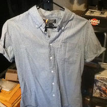 Urban Outfitters Fink Clothing - Blue Striped Shirt - American Apparel M Photo