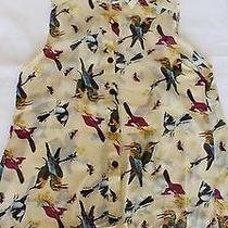 Urban Outfitters  Forever 21 Style Birds Light Sleeveless Button Down Photo