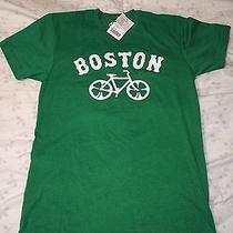 Urban Outfitters Green Graphic T Shirt Mens Small Boston Bike With Shamrocks Photo