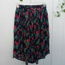 Urban Outfitters Kimchi Blue Hi Low Floral Skirt Lined Size Medium Photo
