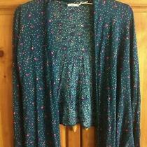 Urban Outfitters Kimchi Blue Patterned Size Medium Open Cardigan Sweater Photo