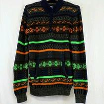 Urban Outfitters Koto Heavy Pullover Peace Pattern Mens Medium Ugly Bright Color Photo