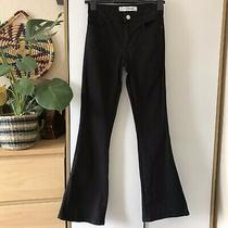 Urban Outfitters Light Before Dark Jet Black Skinny Flare Jeans W25 L31 Photo